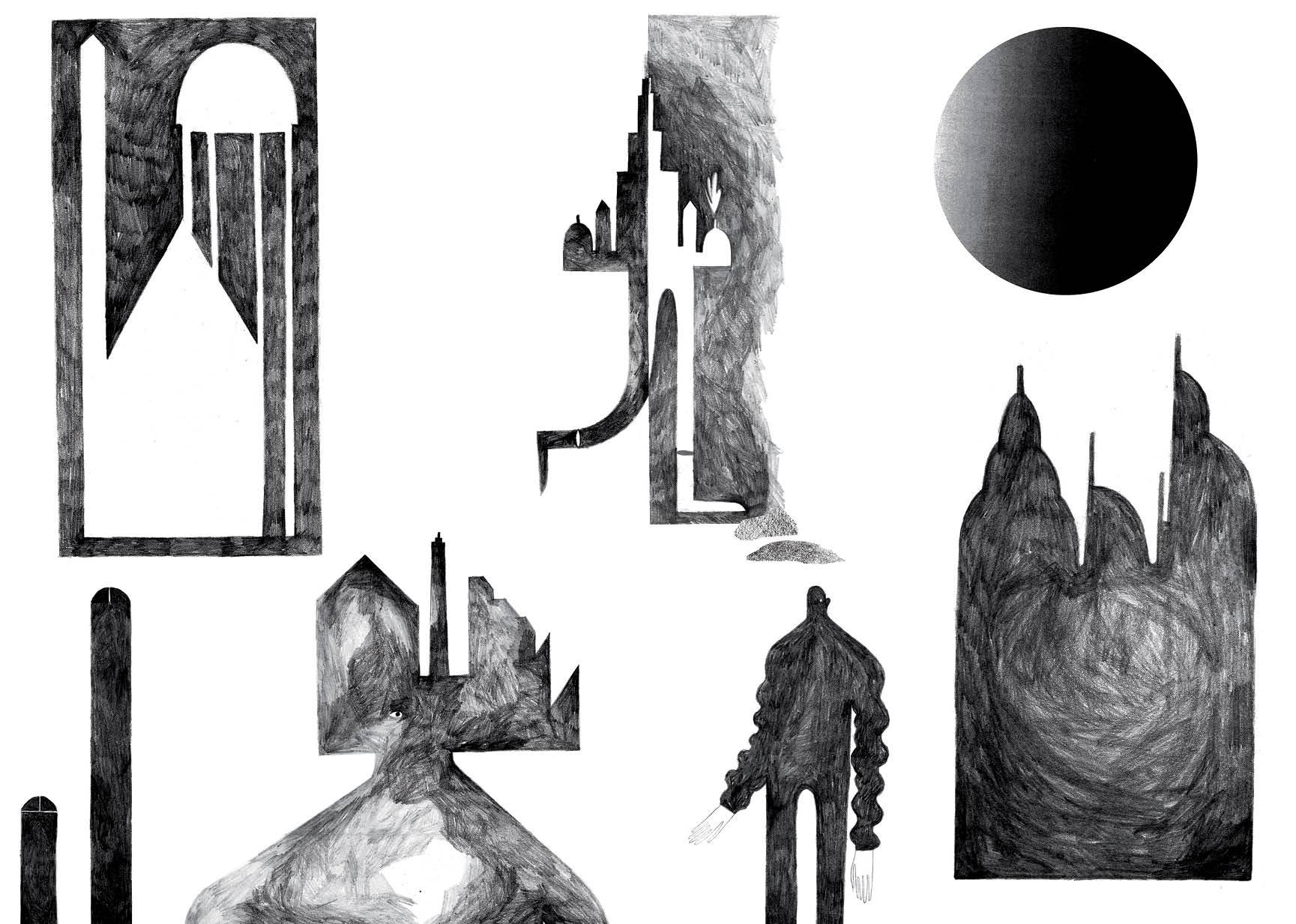 Page 1-2 - Crayon sur papier - 61 x 43,5 cm - 2013