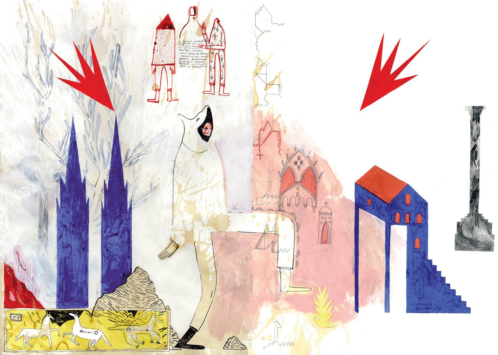 Page 10 - Techniques mixtes sur papier - 61 x 43,5 cm - 2013