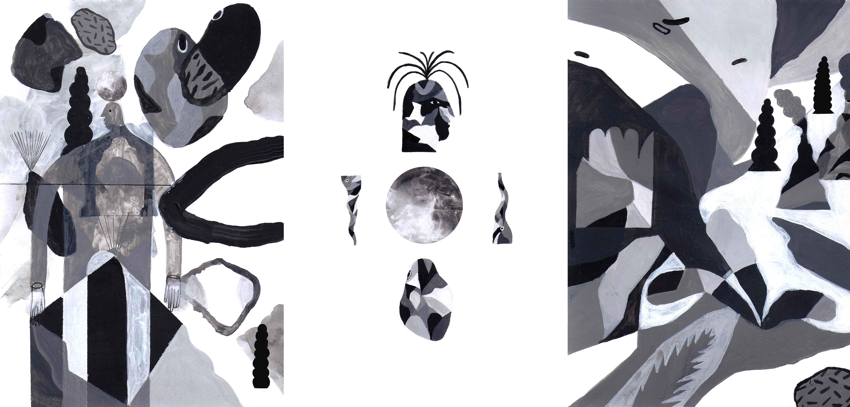 Planète Inconnue - Acrylique sur papier - 21 x 45 cm - 2014