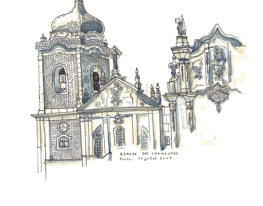 Porto - Aquarelle et stylo sur papier - 2017