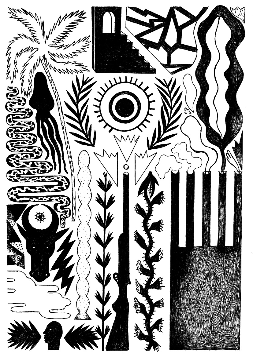 Décalages horaires 6 - Stylo-Bic sur papier - 21 x 29,7 cm - 2015