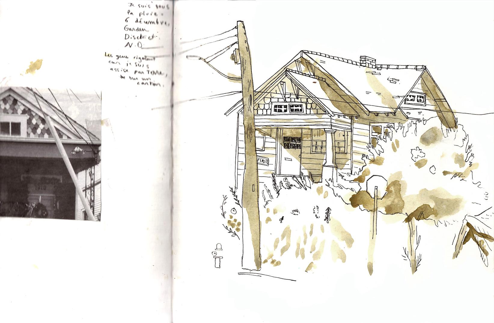 Nouvelle Orléans - Aquarelle et stylo sur papier - 2013