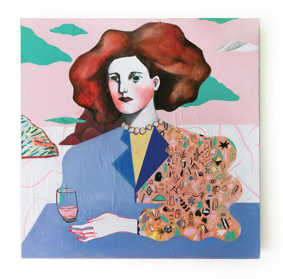 Gilda 1 - Peinture à l'huile sur panneau de bois - 78 x 78 cm - 2016