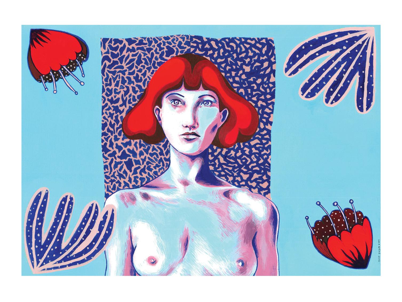 Gilda 2- Peinture acrylique sur papier toilé - 29 x 41,5 cm - 2015