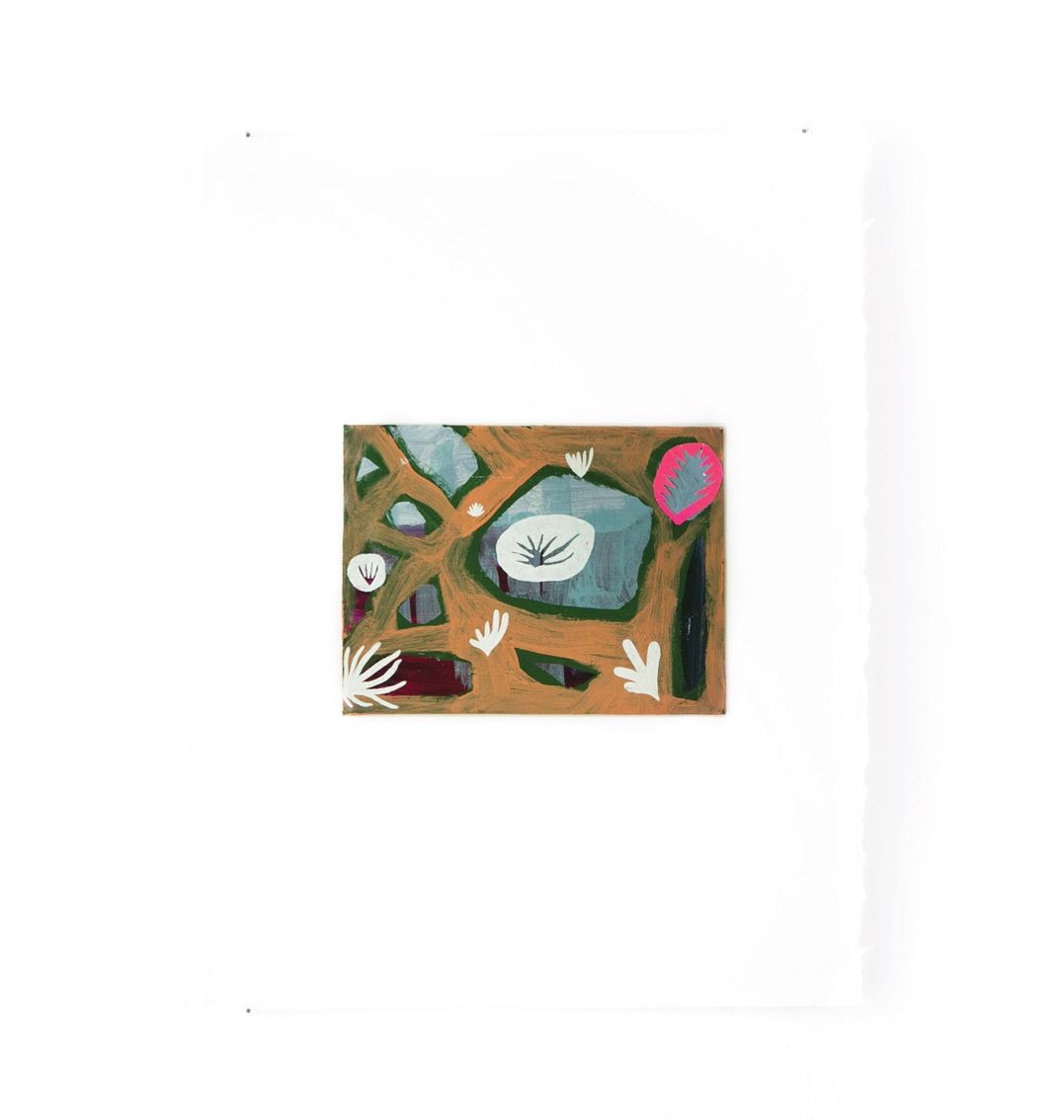 Arizona - Peinture acrylique sur carton - 33 x 44 cm - 2016