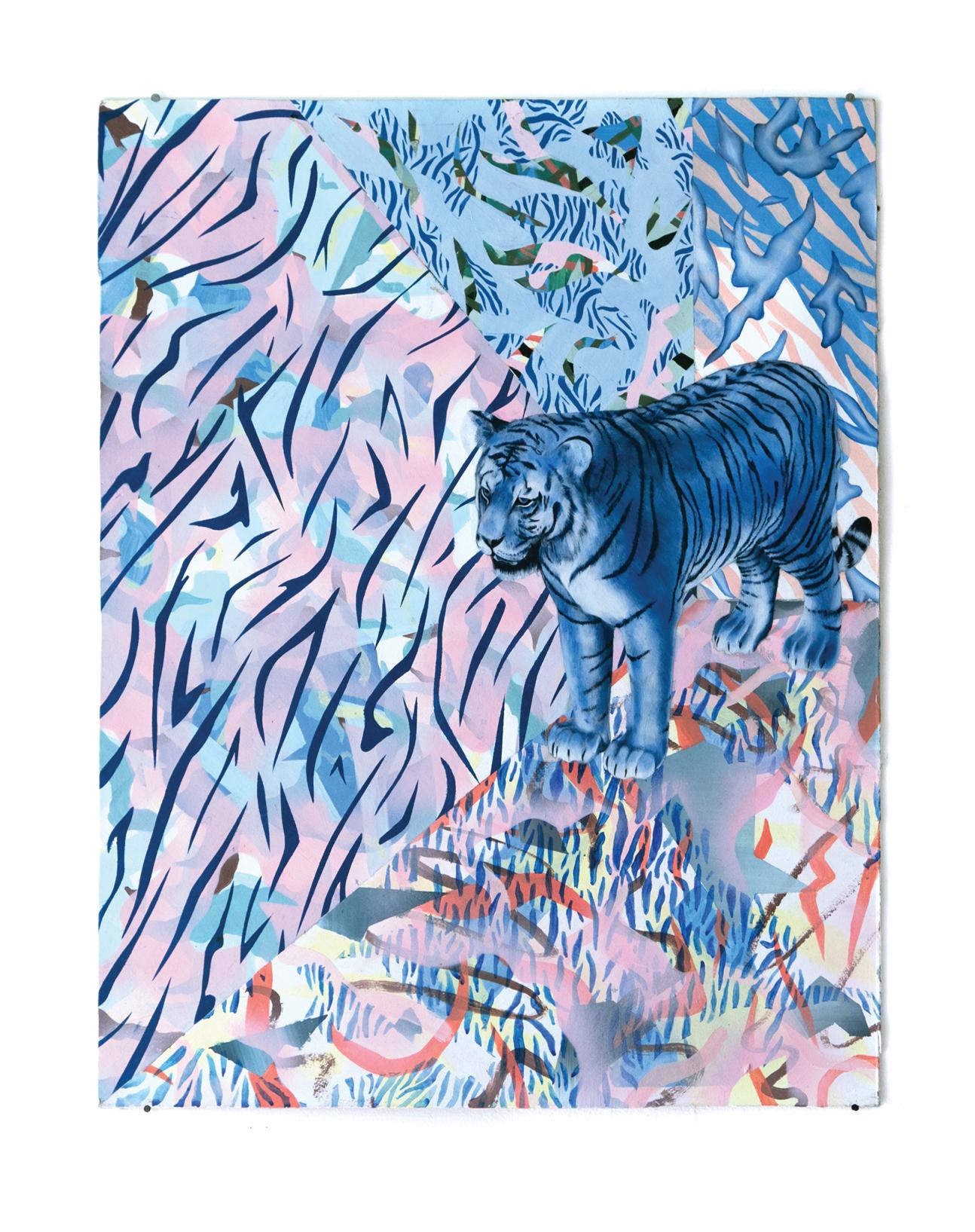 Bobby - Peinture à l'huile et acrylique sur carton - 65x50 cm - 2018