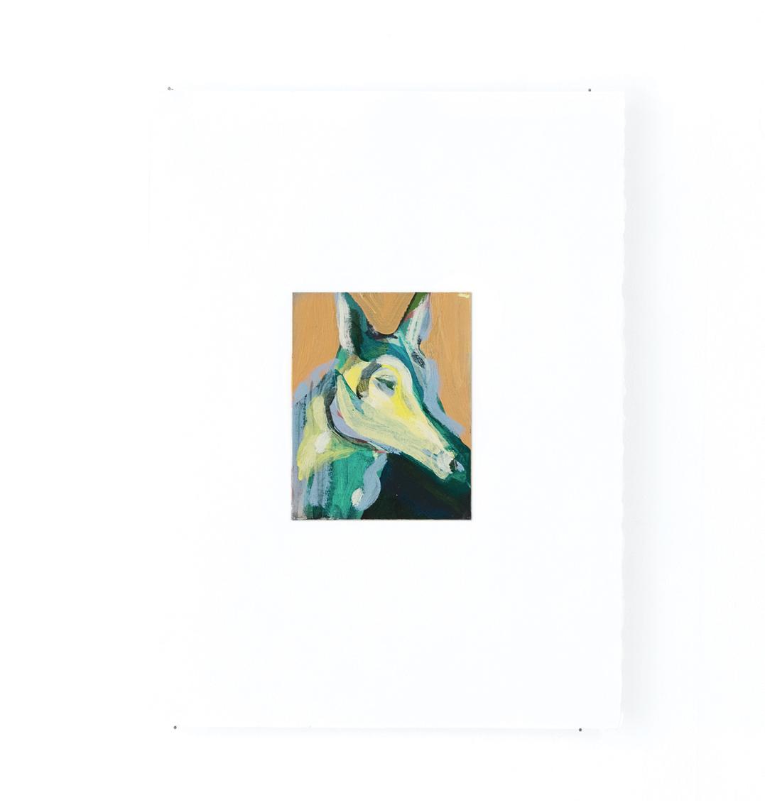 Cheval - Peinture acrylique sur carton - 33 x 44 cm - 2016