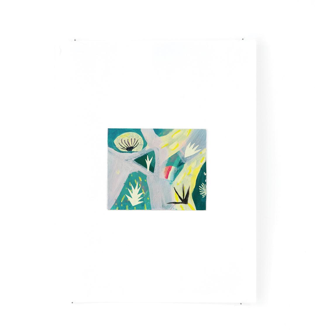 Jardin - Peinture acrylique sur carton - 33 x 44 cm - 2016