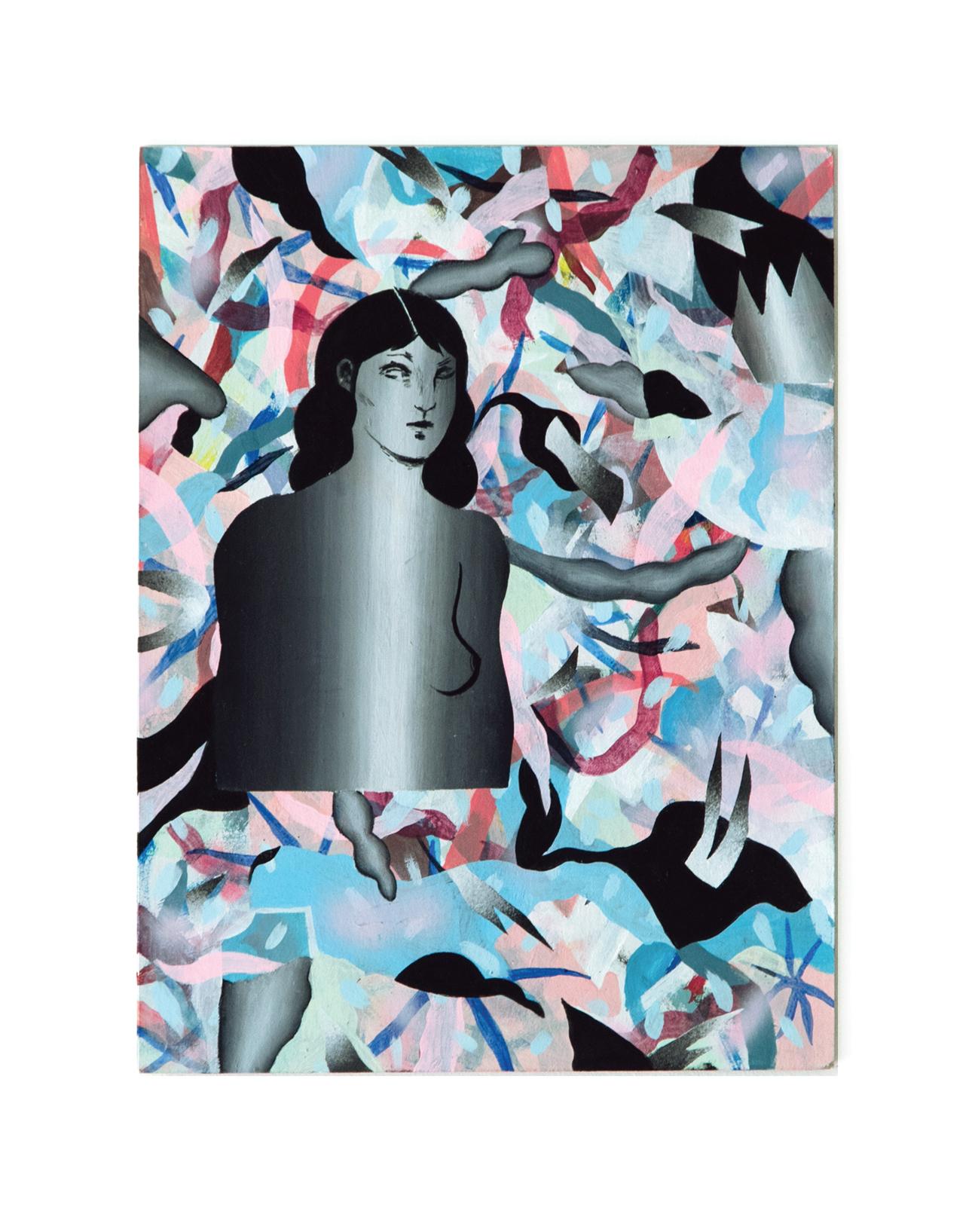 Laura - Peinture acrylique sur carton - 30,5 x 23,5 cm - 2018