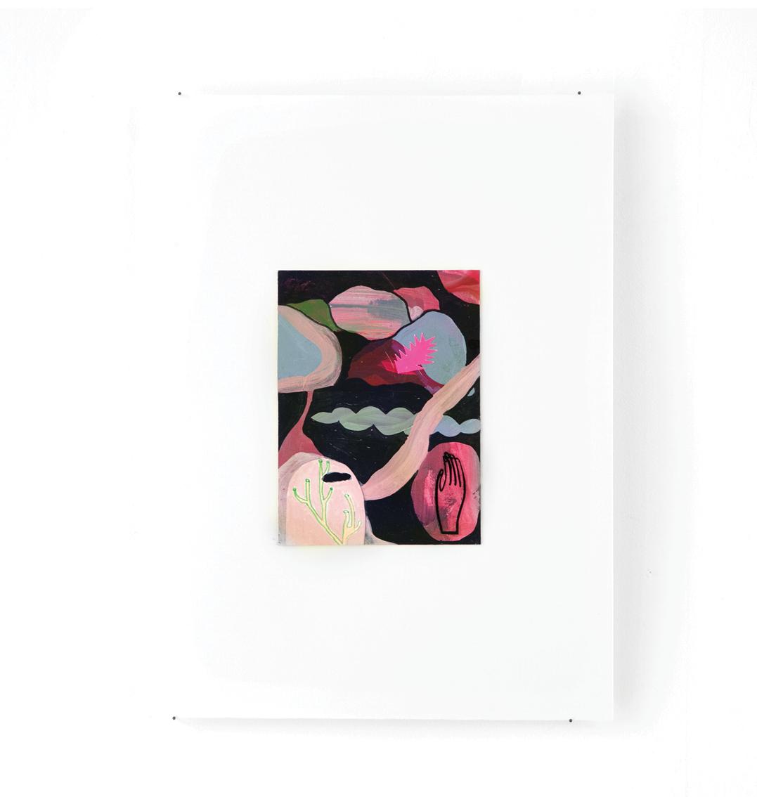 Mars - Peinture acrylique sur carton - 33 x 44 cm - 2016