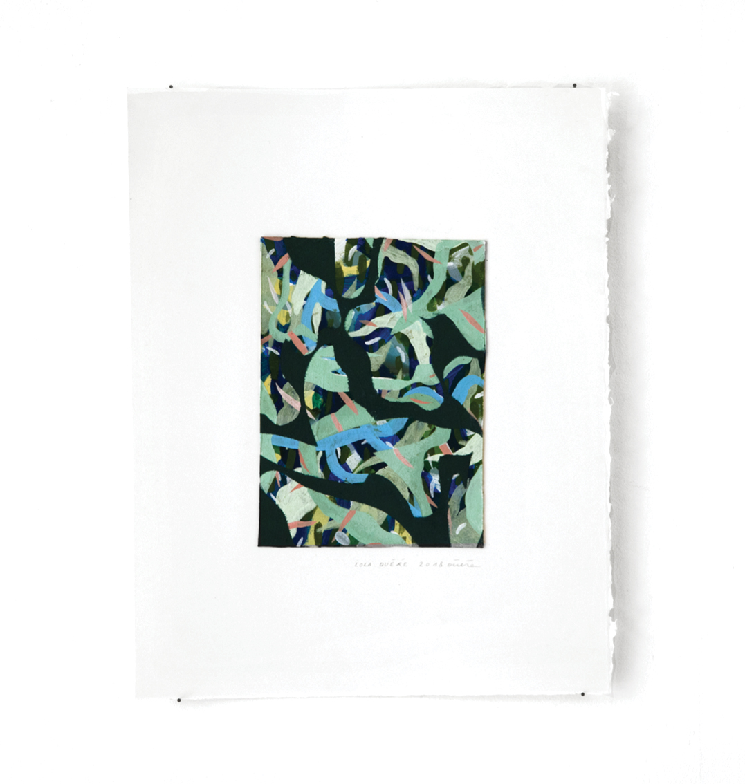 Mousse - Peinture acrylique sur carton - 33 x 44 cm - 2017