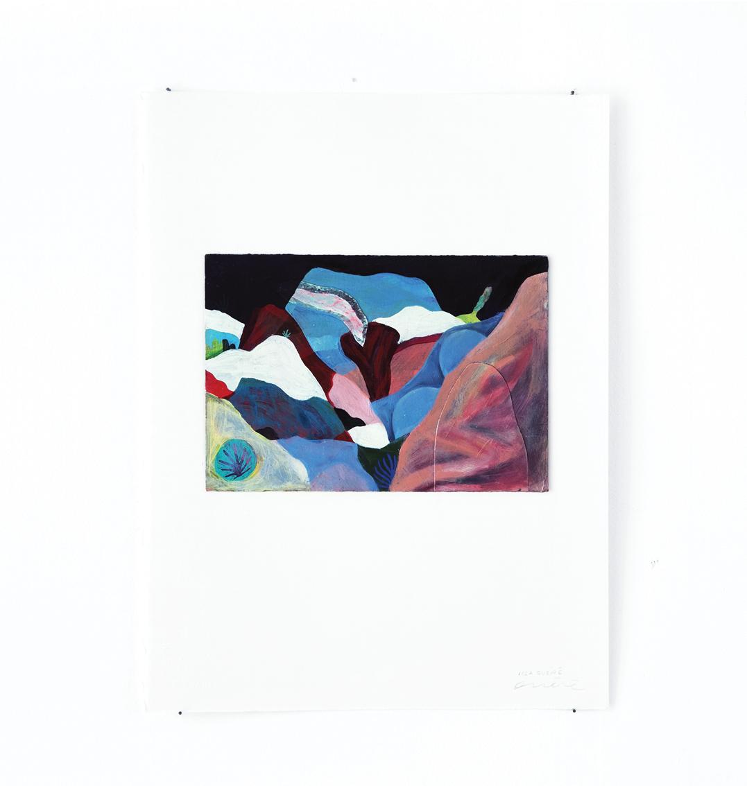 Montagnes - Peinture à l'huile sur carton - 33 x 44 cm - 2016