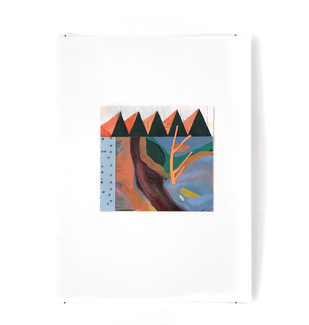 Rivière - Peinture acrylique sur carton - 33 x 44 cm - 2016
