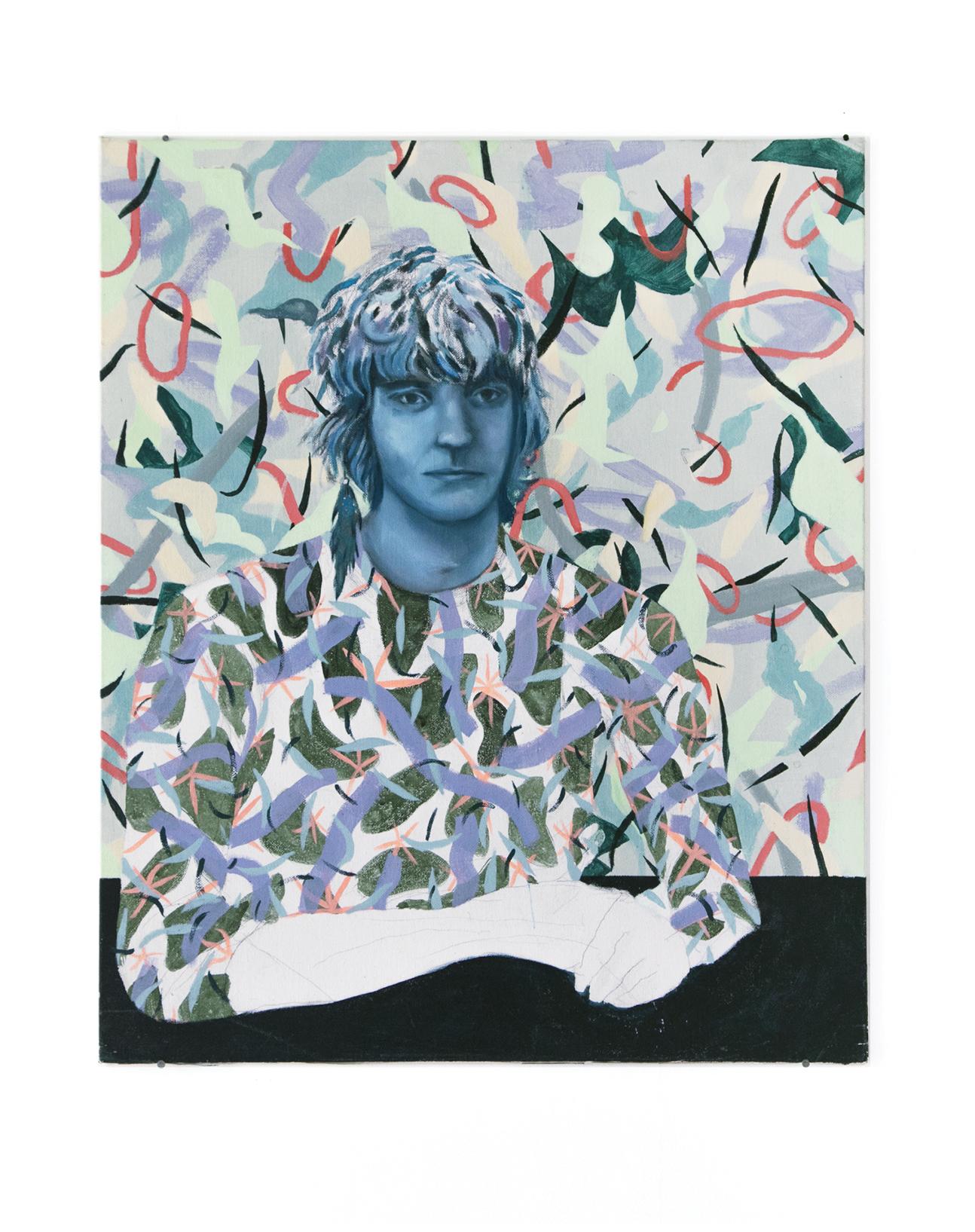 Théo - Peinture à l'huile et acrylique sur carton - 80 x 65 cm - 2017