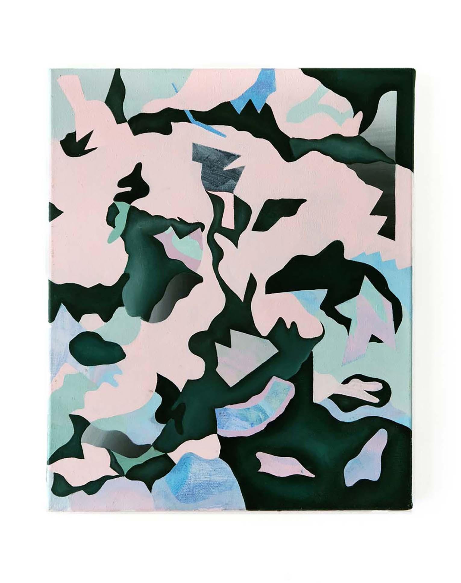 Vaskane - Peinture acrylique sur toile - 47x40 cm - 2018